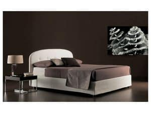 Moon, Bed upholstered with polyurethane foam and dacron