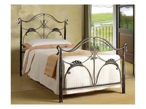 Ottocento Single Bed, Single Bed in Art Nouveau style, for residential use