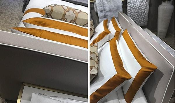 Patroclo, Upholstered bed, removable cover, electric adjustable bedspring