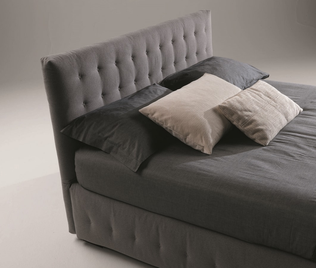Phuket, Upholstered bed with quilted headboard