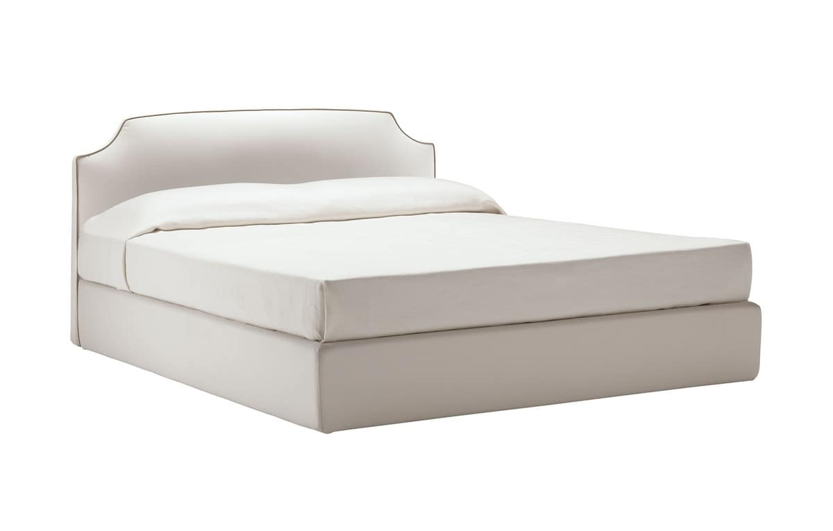 Platone, Bed covered with removable fabric, with automatic adjustment