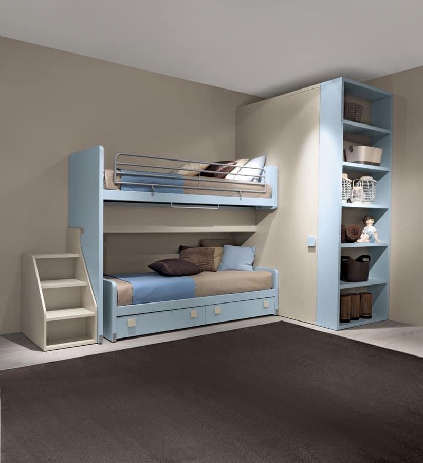 Plutone, Bunk bed, small footprint, maximum comfort