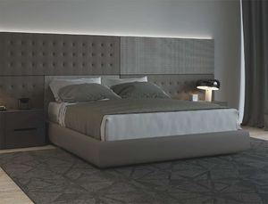 PUZZLE, Bed with customizable panels