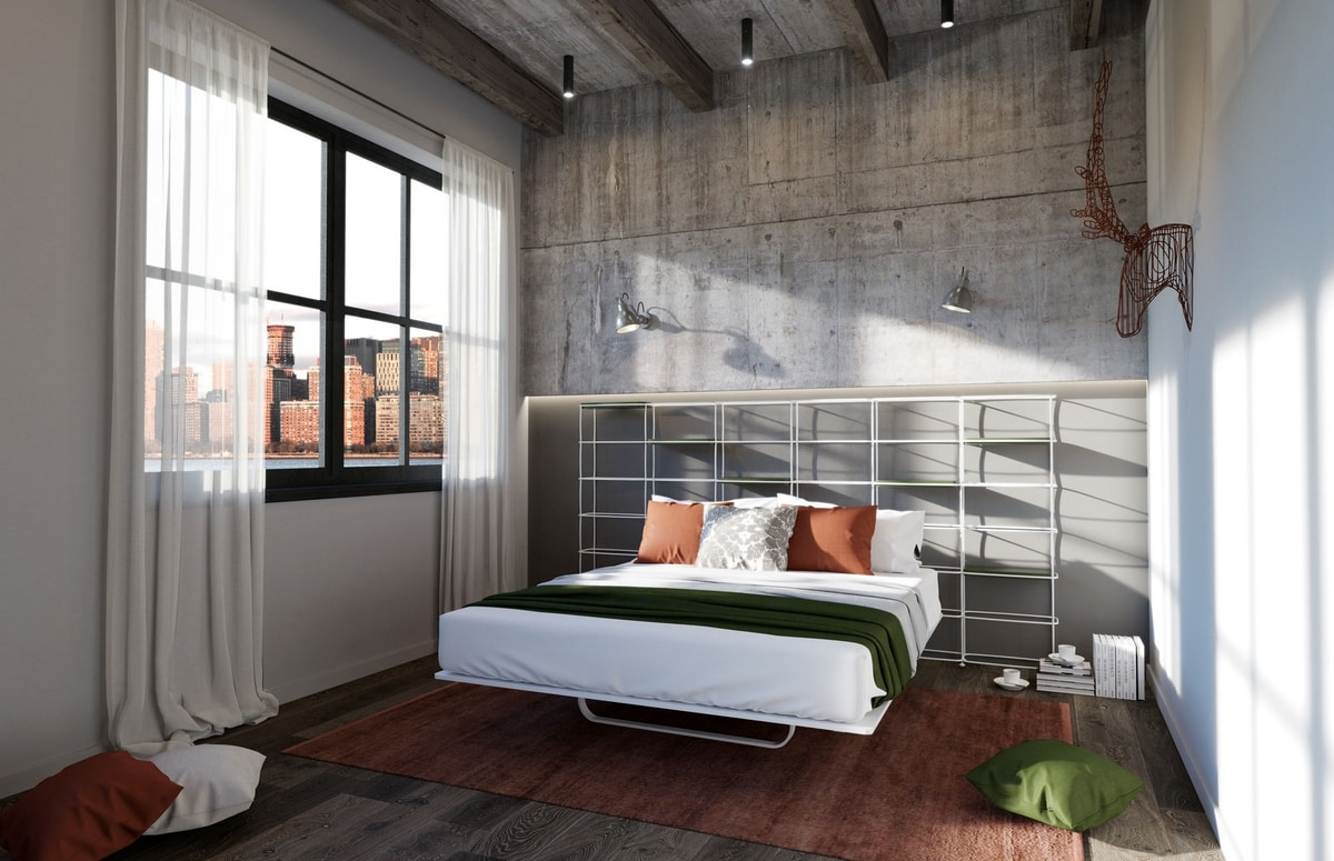 Bed With Bookcase Headboard Ideal For Modern Apartments