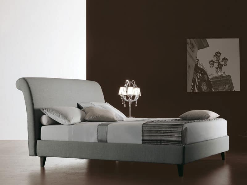Royal, Bed covered in fabric, for residential use