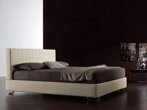 Tender, Modern bed, quilted headboard, for Bedroom