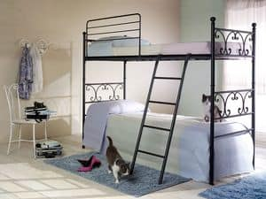 Vienna bunk bed, Bunk bed made of iron tubing