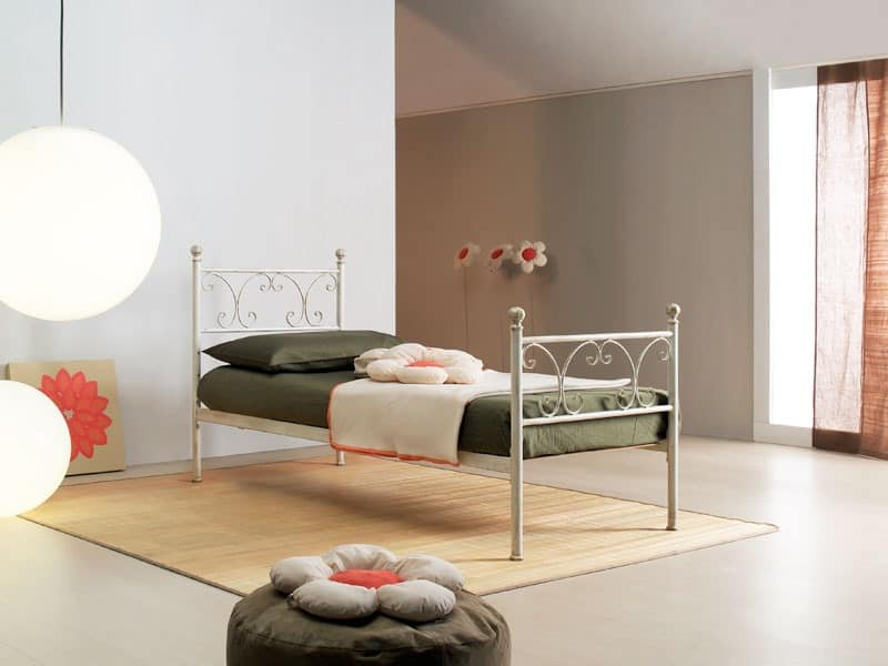 Vienna single bed, Single Bed in Art Nouveau style, for elegant hotels