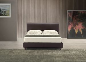 Zara, Modern bed with upholstered structure