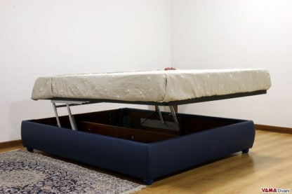 Double storage bed without headboard, Sommier bed made to measure