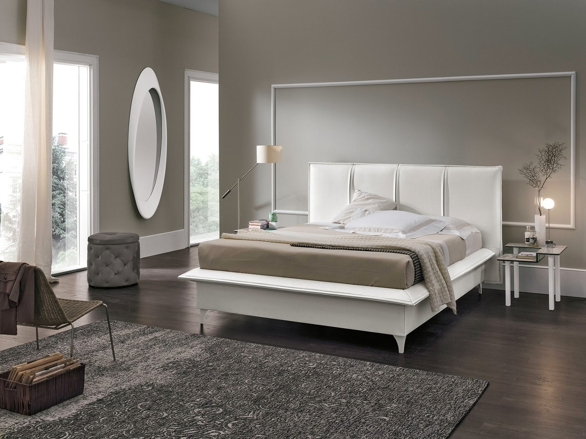 ITACA BD462, Bed with removable upholstery
