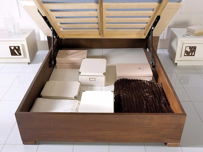 Prima Classe bed, Wooden storage bed