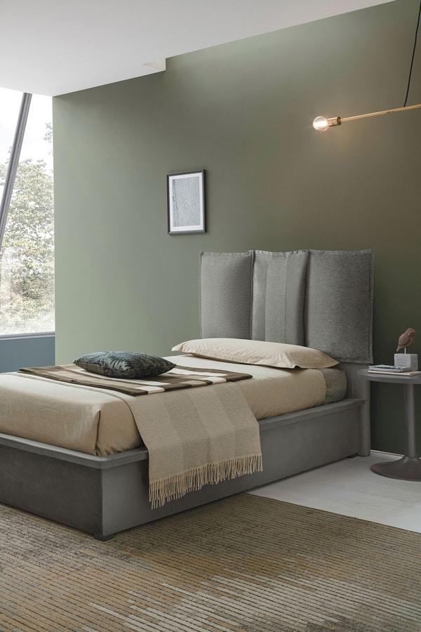 SANTORINI SB464, Padded and removable single bed