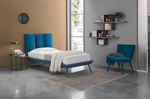 SANTORINI SB464, Padded and removable single bed