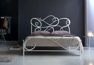 Aura double bed, Wrought iron classic bed, for Bedroom