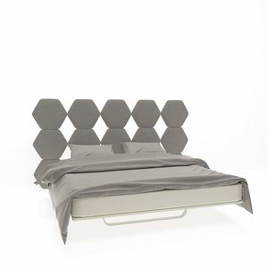 Cristallo, Double bed with headboard with hexagons