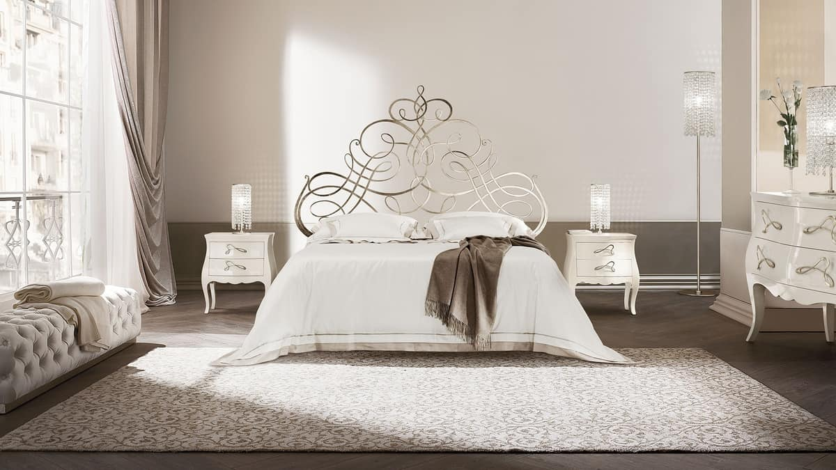 Pascià letto, Flat iron bed, available in various sizes, for hotels