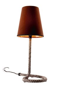 740103 Snake, Lamp with base in woven leather