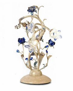 95833, Table lamp with decorative flowers