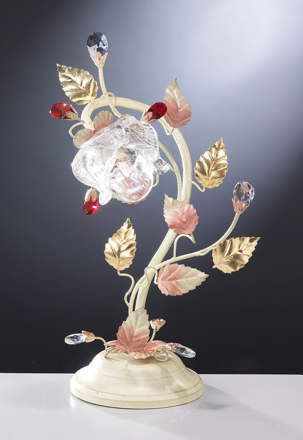 99031, Table lamp with a floral design