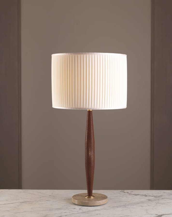 AMMOS HL1006TA-1, Table lamp with leather frame