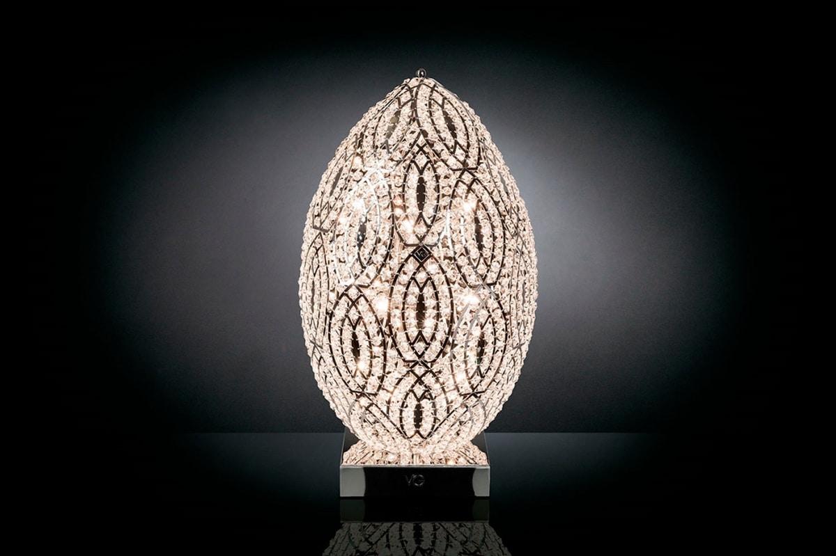 Arabesque Egg 75, Lamp with steel mesh