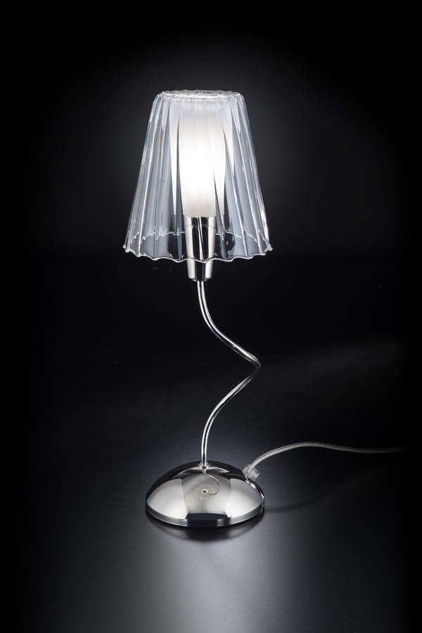 ARIA H 40, Table lamp with crystal lampshade