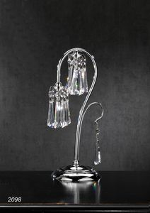 Art. 2098 Orion, Table lamp made in chrome plated Brass with Crystal