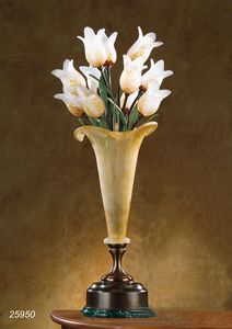 Art. 25950 Butterfly, Table lamp made in brass with blown glasses made in Murano