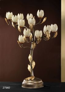 Art. 27960 Fior di Loto, Table lamp made in brass and blown glasses made in Murano