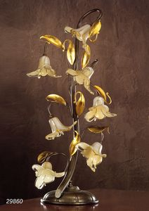 Art. 29860 Jolie, Table lamp with decorative glass flowers