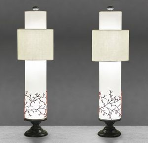 Art. 3019-06-00, Table lamp with coral decoration