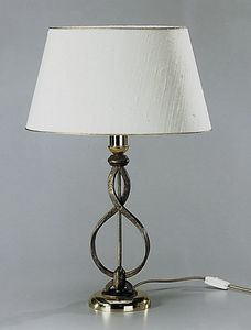 Art. 3024-01-00, Table lamp with oval shatung lampshade