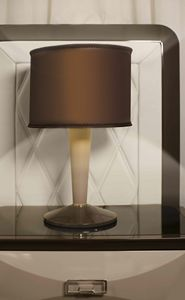 ART. 3361, Table lamp, with leather stem