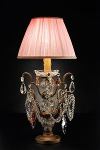 Art. 3850 P Cp, Table lamp with Bohemia crystals