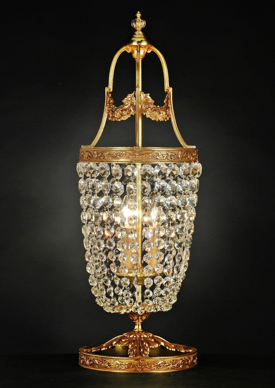 Art. 680 LT CR, Elegant table lamp in brass