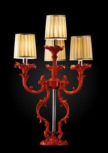Art. Coral, Red table lamp, finish with coral effect