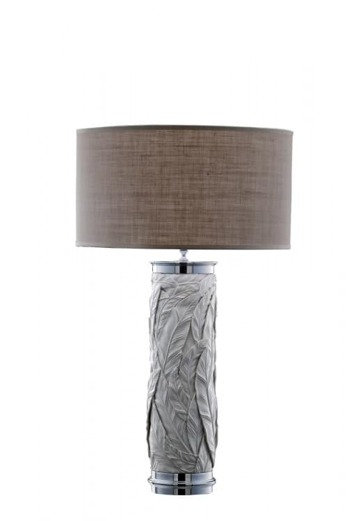 Art. LB301, Cylindrical table lamp with floral embellishments