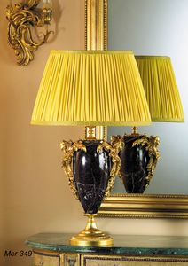 Art. MER 349, Table lamp in marble and brass