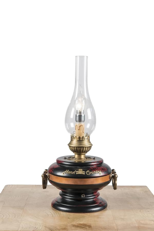 Art. SL 155, Hard country style lamp, rechargeable