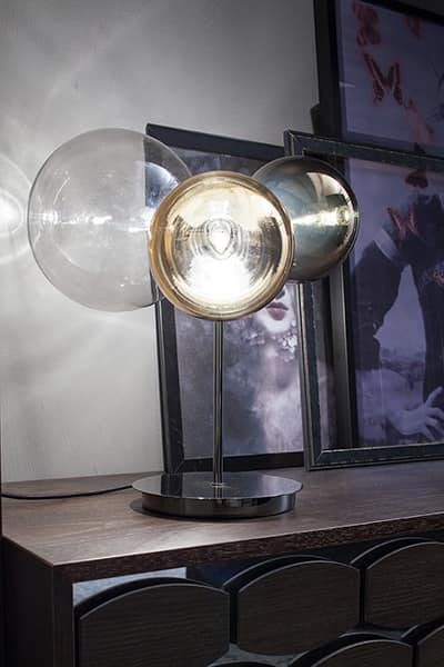 ATOMO, Glass table lamp with 3 lights