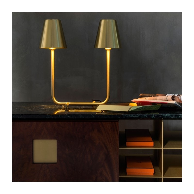 Bio, Brass table lamp