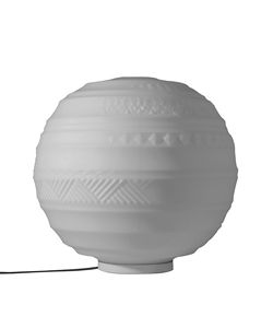 Braille CT144 2B INT, Table lamp, spherical, with embossed decorations