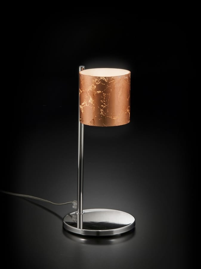BRICK H 32, Table lamp with decorated glass shade