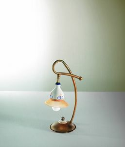 Campanella Vt188-038, Glass and ceramic lamp with traditional design