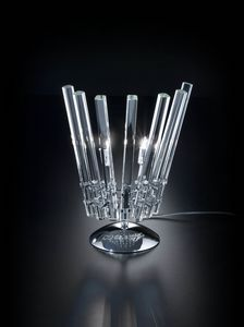 CIRCLE L 28, Table lamp in transparent crystal