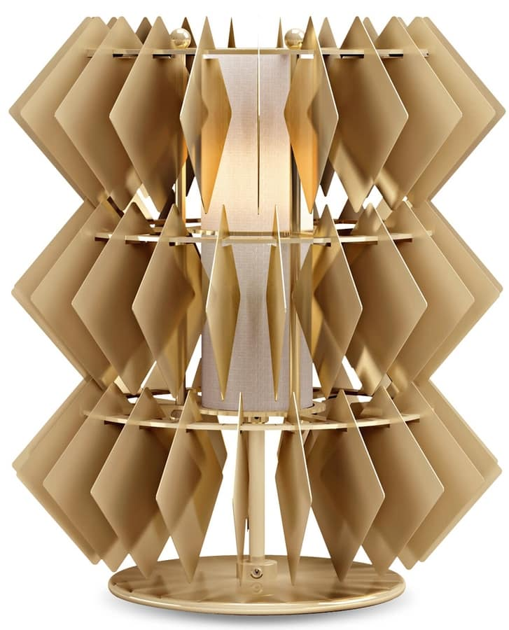 Diamante new table lamp, Table lamp with rhombus pendants