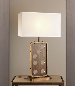 DOMINO HL1076TA-1, Table lamp with linen lampshade