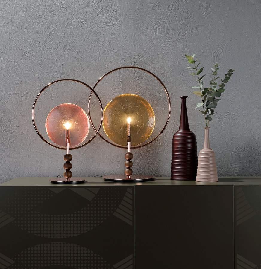 DREAMY, Table lamp with glass diffuser