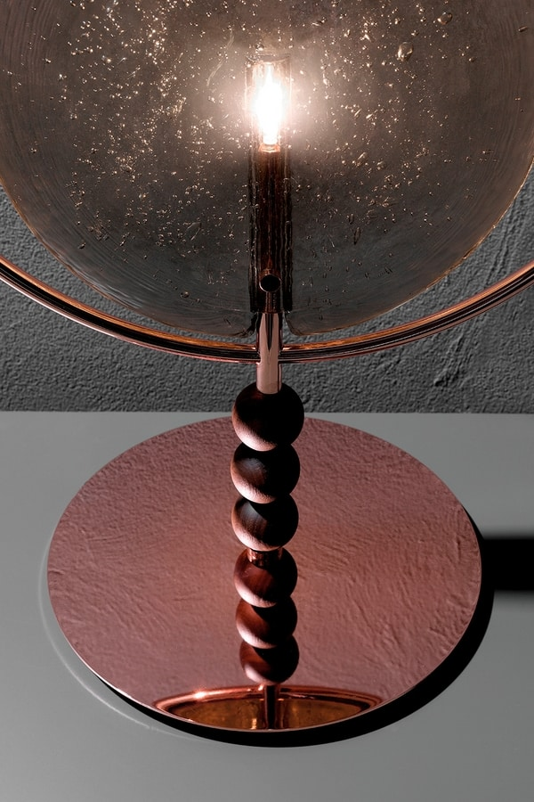 DREAMY, Table and suspension lamp with glass diffuser